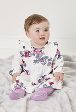 Joules Harleigh Organic Cotton Dress w/Tights Set White Floral