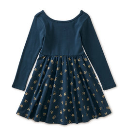 Tea Collection Ballet Skirted Dress Starry Night Ink
