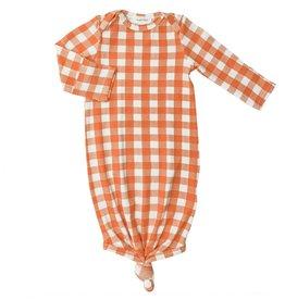 Angel Dear Gingham Pumpkin Gown 0/3M