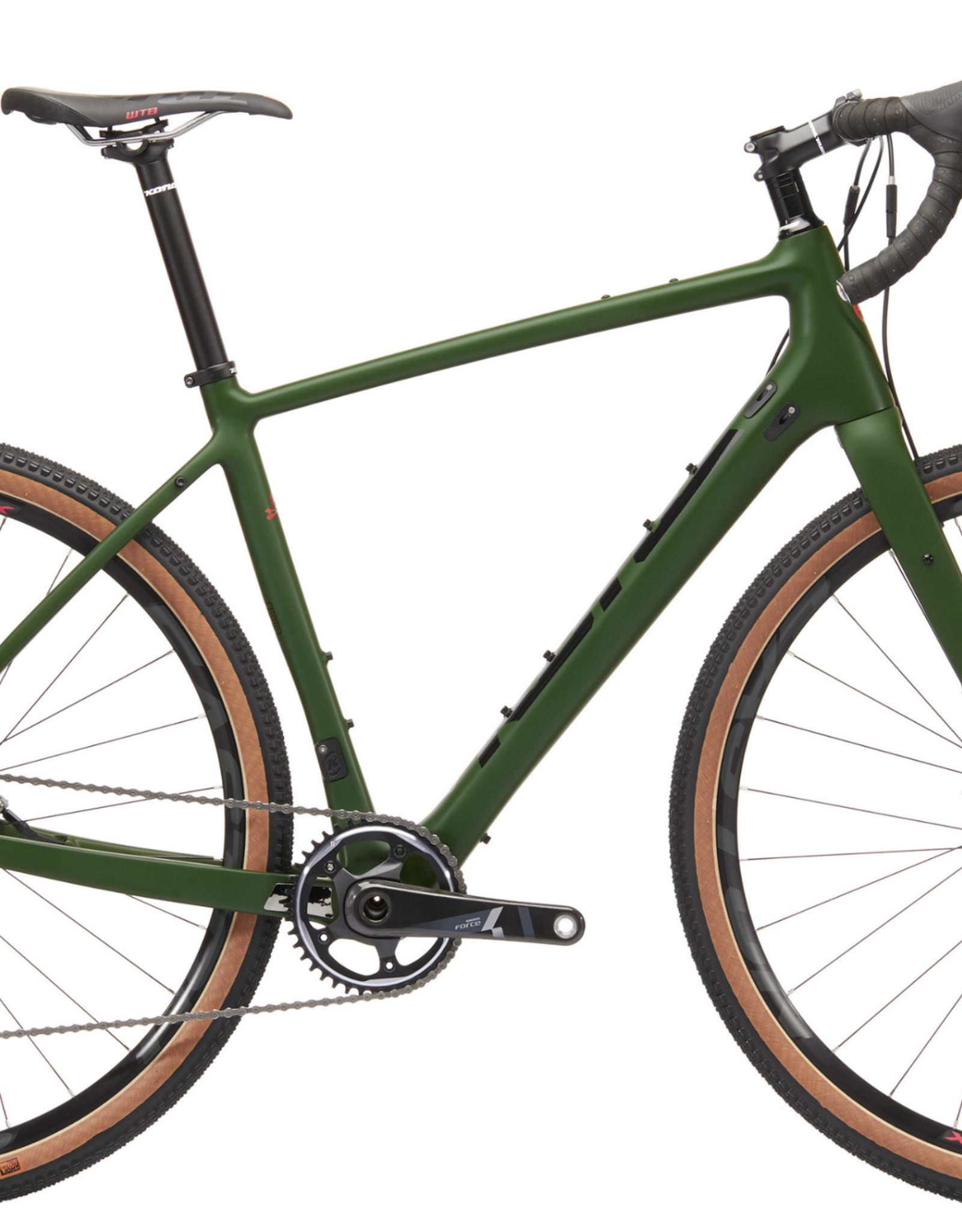 Kona Bicycles Libre DL 58cm FRAMESET ONLY w/ Kona Verso Full Carbon Flat Mount Disc Fork, 12mm F/R Axle