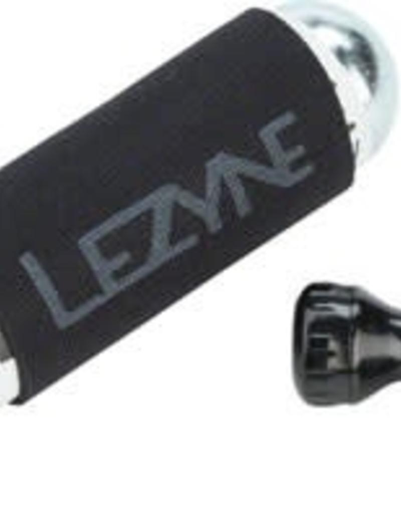 Lezyne Lezyne Control Drive Co2 with 25 gram cartridge and machined Slip Fit Chuck, Black