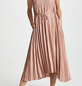 Vince Vince Chevron Pleated Dress