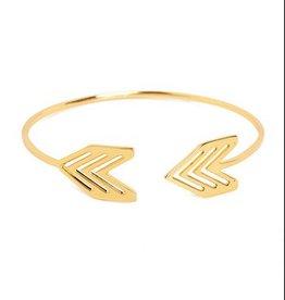 Gorjana Gorjana Chevron Tribal Cuff Gold