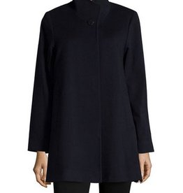 Fleurette Fleurette Stand Collar Placket Coat
