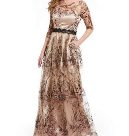 JS Collections JS Collections Lace Gown with Illusions