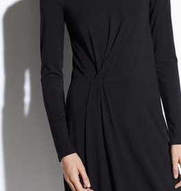 Vince Vince L/S Side Drape Dress
