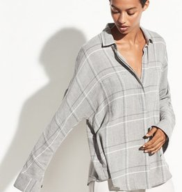 Vince Vince Bar Plaid Popover