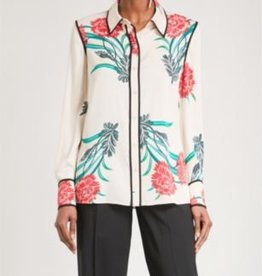 DVF Long Sleeve Collared Shirt