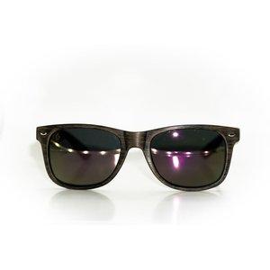 Gnarcissist Polarized Wood Grain Framed Sunglasses