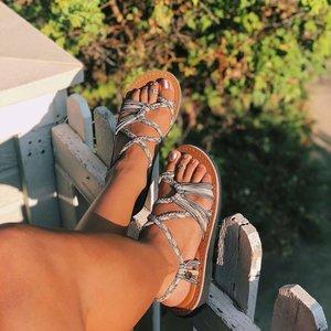 Vines X Flat Sandal