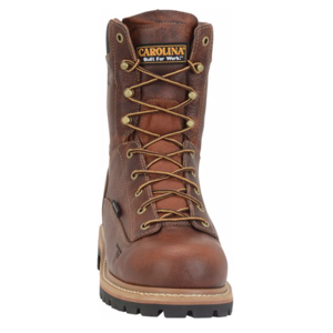 "Carolina Grind 8"" Lace-To-Toe Soft Toe Brown Work Boot"