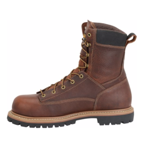 "Carolina Grind 8"" Lace-To-Toe Composite Toe Brown Work Boot"