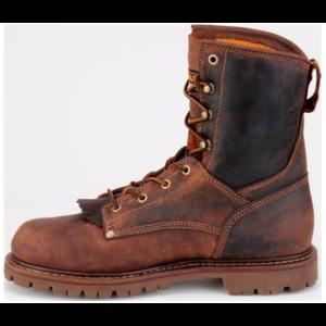 "Carolina 28 Series 8"" Waterproof Low-Heeled Logger Brown"