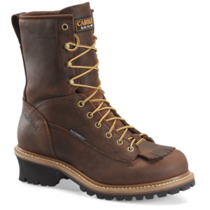 "Carolina Spruce 8"" Steel Toe Waterproof Logger Brown"
