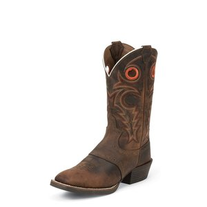 Justin Boots Whiskey Buffalo Wide Square Western