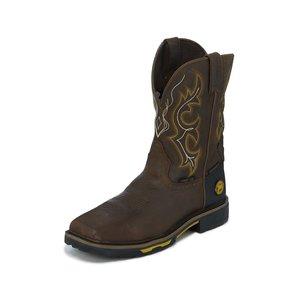 Justin Original Work Boots Rustic Barnwood Waterproof Comp. Toe Slip On