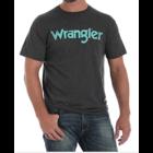 Wrangler Heather Gray/ Turq. Logo