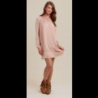 Wrangler LS Crochet Tunic Dress Pink