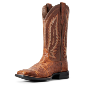 Ariat Relentless Full Quill Ostrich - Platinum Tan