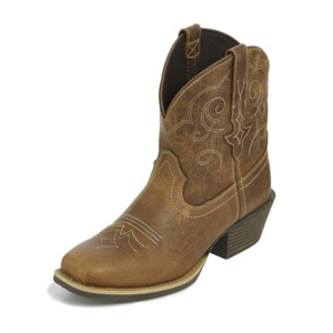 "Justin Boots Chellie 7"" Tan Buffalo"