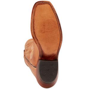 Justin Boots Bent Rail Golden Tan Square Toe