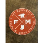 "Fox Mercantile 4"" Fox Mercantile Sticker"