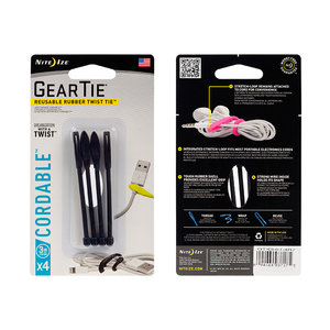 "NITE IZE Gear Tie Cordable 3"" (4 Pack)"
