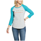 Ariat Women's REAL Ariat Logo Baseball Tee