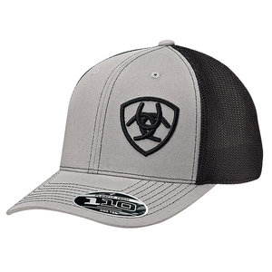 Ariat Grey Offset Shield Cap
