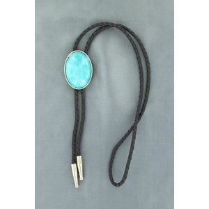 M&F Western Rope Edge Dyed Turquoise Bolo