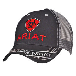 Ariat Rumblin Black/ Grey Cap