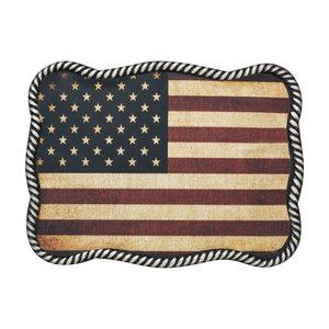 Nocona USA Flag Buckle