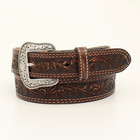 Nocona Brown Pecos Tooled Belt