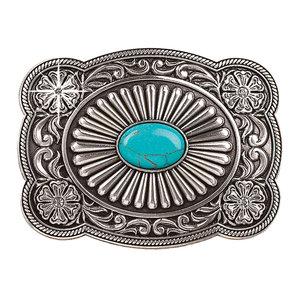 Blazin Roxx Turquoise Fanned Stone Buckle
