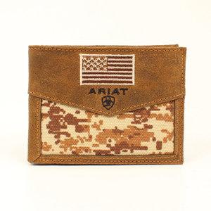 Ariat Digital Camo Flag Rodeo Wallet
