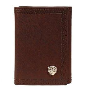 Ariat Dark Copper Trifold Wallet