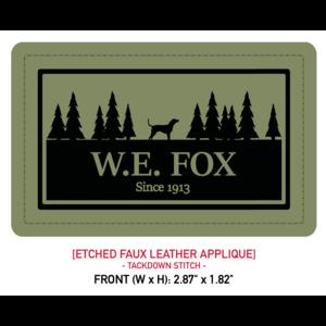Richardson Hats W.E. Fox Treeline Green Leather Patch Cap