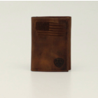 Ariat A3545402 - Patriot II Brown Trifold Wallet