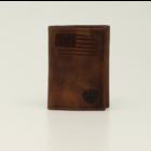 Ariat A3545602 - Patriot II Brown Bifold Wallet