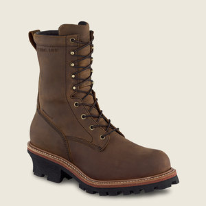 """Red Wing Shoes 9"""" Steel Toe 400g Ins. Loggermax"""