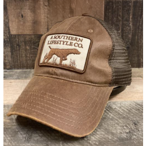 A Southern Lifestyle Co. Leather Trucker Patch Snapback