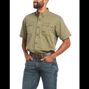 Ariat REBAR - Men's Washed Twill Short Sleeve Shirt