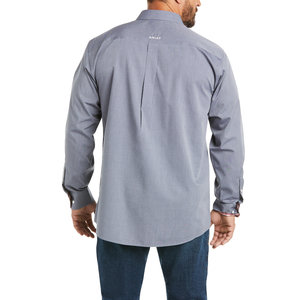 Ariat Men's Wrinkle Free Solid Pinpoint Long Sleeve Oxford Classic Fit