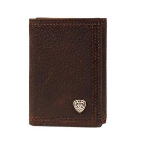 Ariat Trifold Shield Dark Copper Wallet