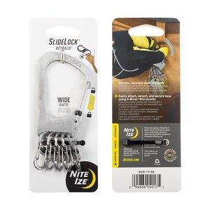 NITE IZE SlideLock® KeyRack™ Stainless Steel