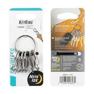 NITE IZE KeyRing Steel S-Biner®