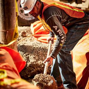 Ariat REBAR Workman LS Logo Tee