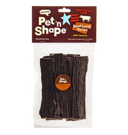 Pet 'n Shape Beef Lung Strips 3oz