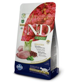 Farmina Adult Cat Quinoa Digestion Lamb Grain Free Limited Ingreditent, 3.3 lbs.