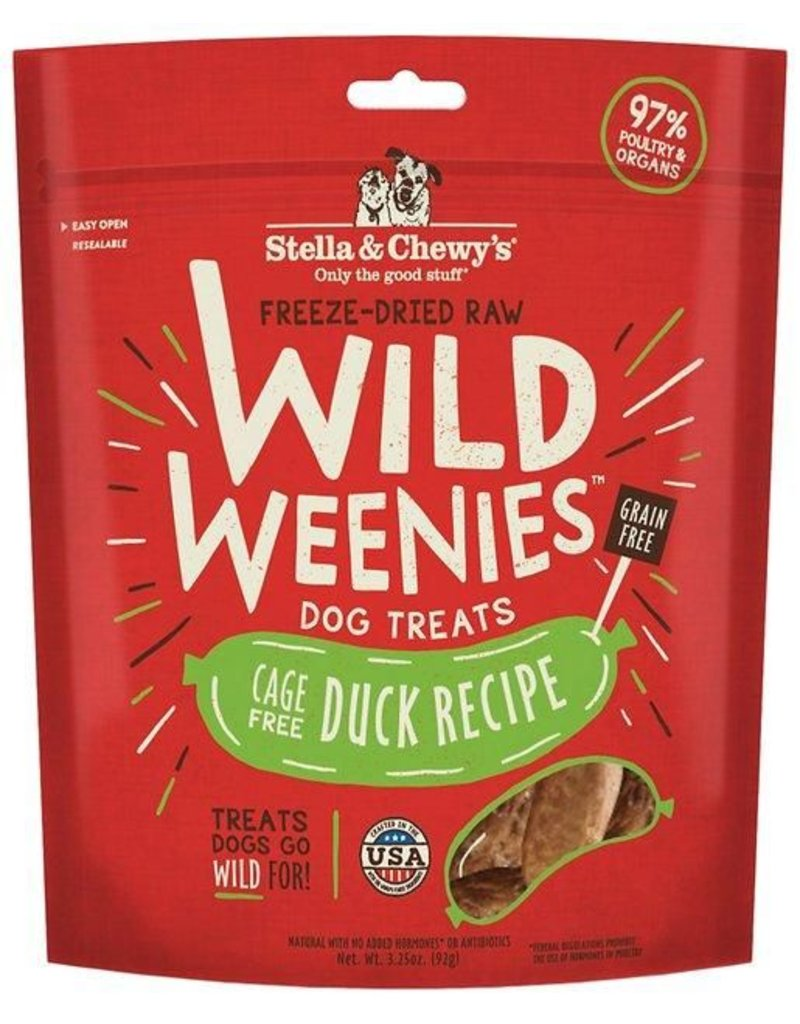 Stella & Chewy's Wild Weenies Cage-Free Duck 3.25oz